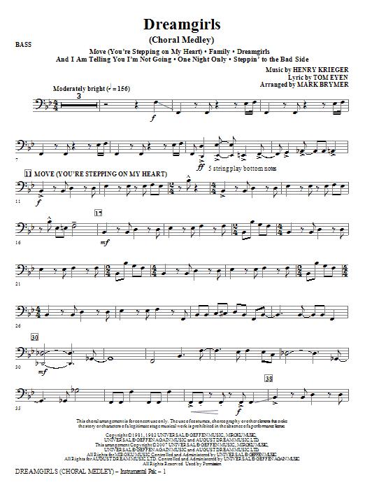 Dreamgirls (Choral Medley) - Bass (Choir Instrumental Pak)