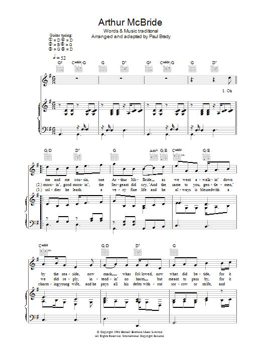 Arthur McBride (Piano, Vocal & Guitar)