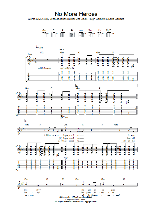 No More Heroes (Guitar Tab)