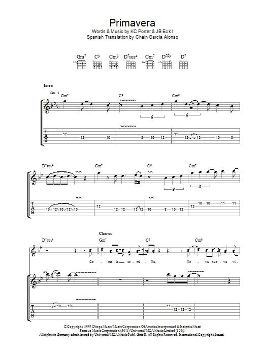 Primavera (Guitar Tab)