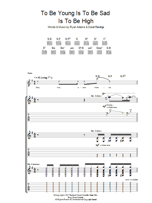 To Be Young (Is To Be Sad, Is To Be High) (Guitar Tab)