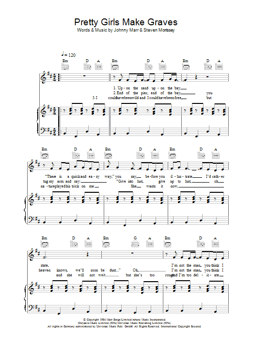 Pretty Girls Make Graves (Piano, Vocal & Guitar)