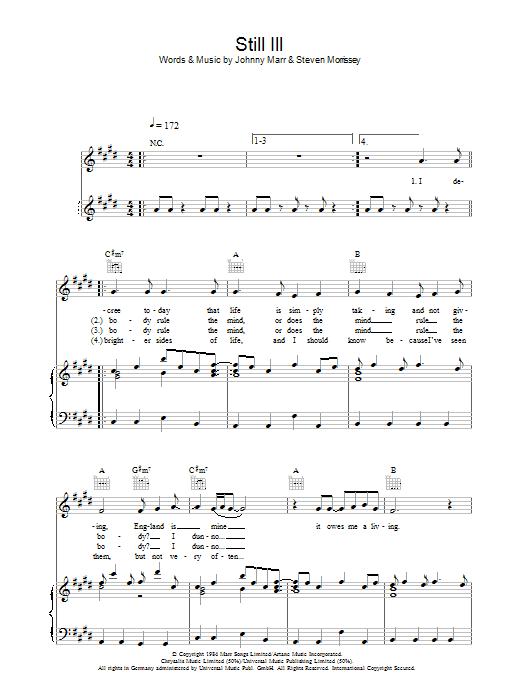 Still Ill (Piano, Vocal & Guitar)