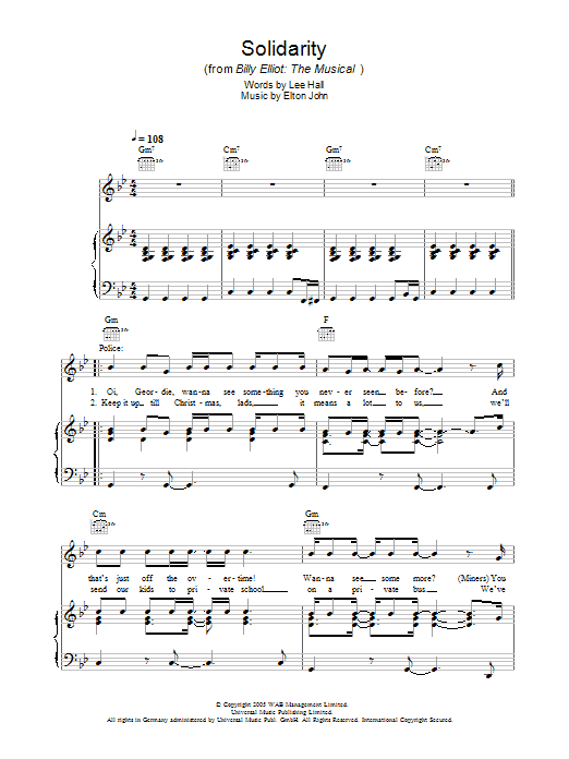 Solidarity (Piano, Vocal & Guitar)