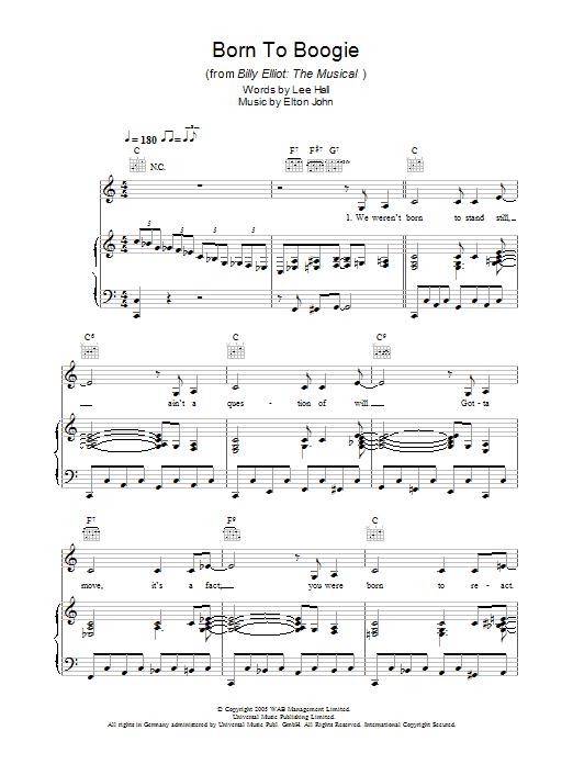 Born To Boogie (Piano, Vocal & Guitar)