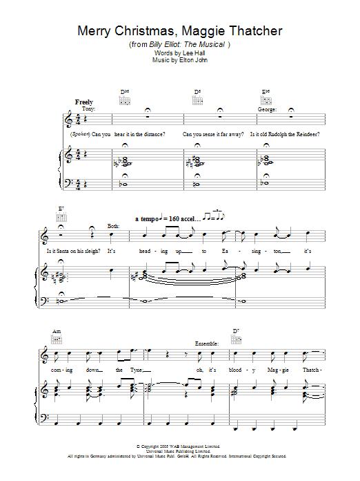 Merry Christmas Maggie Thatcher (Piano, Vocal & Guitar)