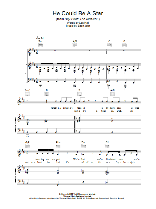 He Could Be A Star (from Billy Elliot: The Musical) Sheet Music