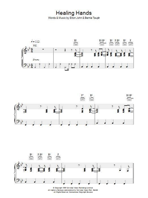 Healing Hands (Piano, Vocal & Guitar)