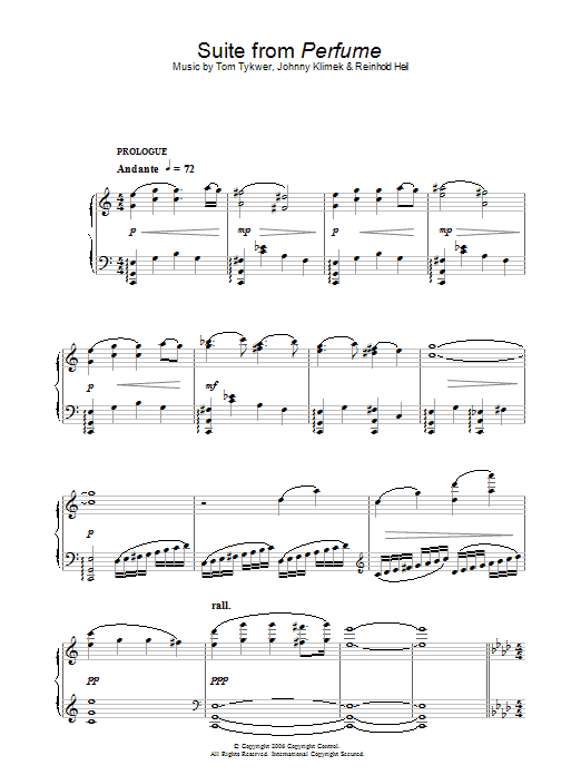 Suite (from Perfume) Sheet Music