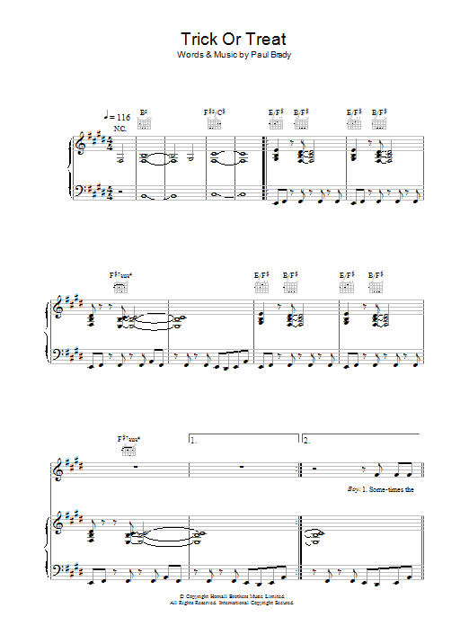 Trick Or Treat Sheet Music