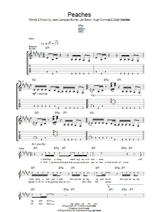 Peaches (Guitar Tab)
