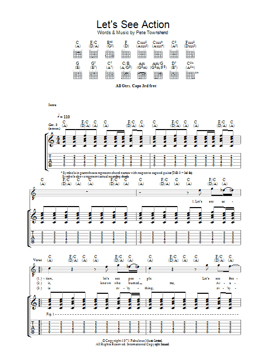 Let's See Action (Guitar Tab)