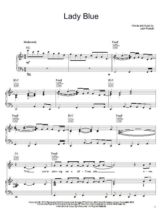 Lady Blue Sheet Music
