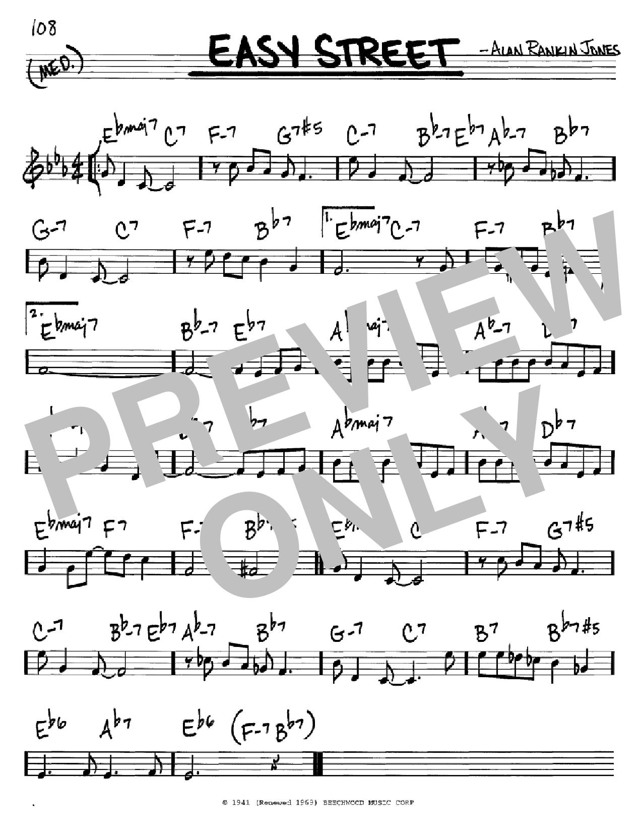 Partition autre Easy Street de June Christy - Real Book, Melodie et Accords, Inst. En Do