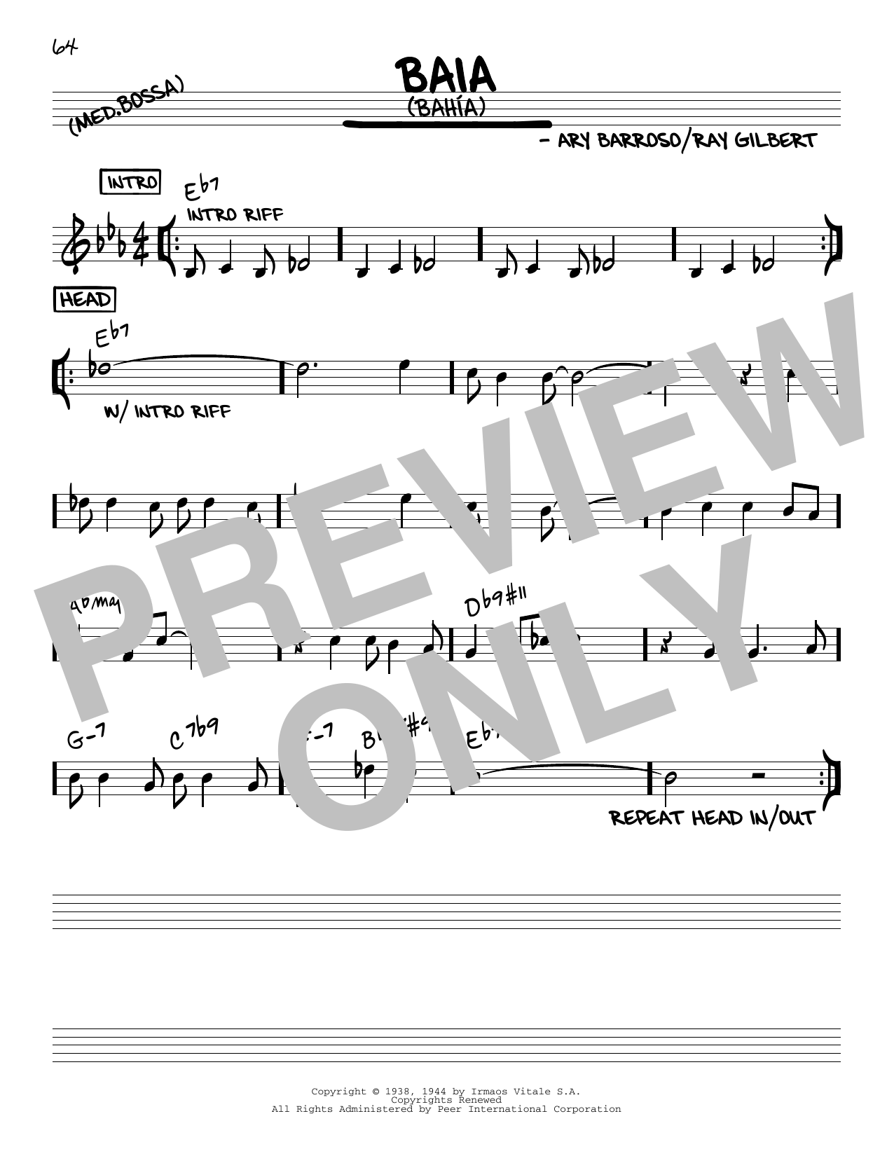 Baia (Bahia) Sheet Music