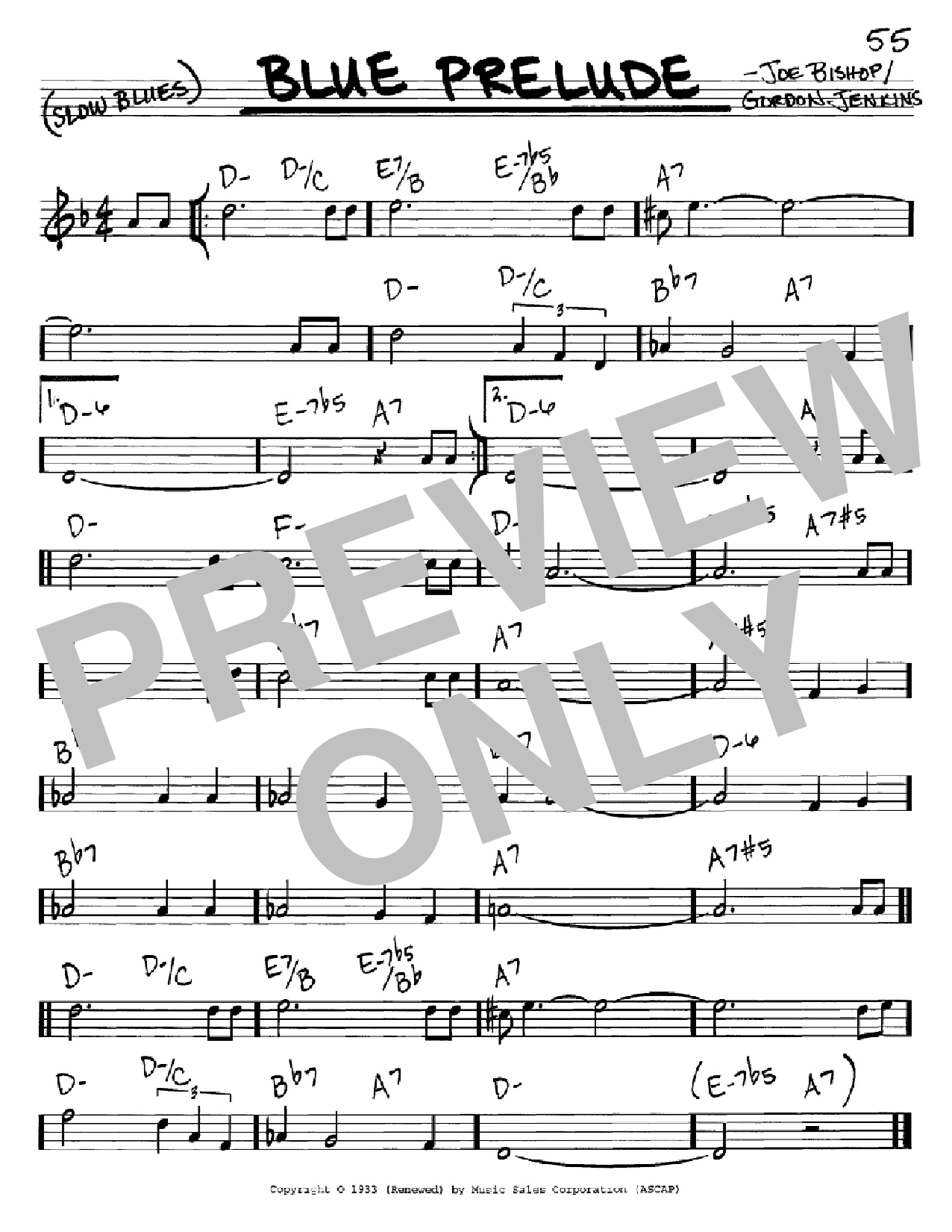Blue Prelude (Real Book – Melody & Chords – C Instruments)