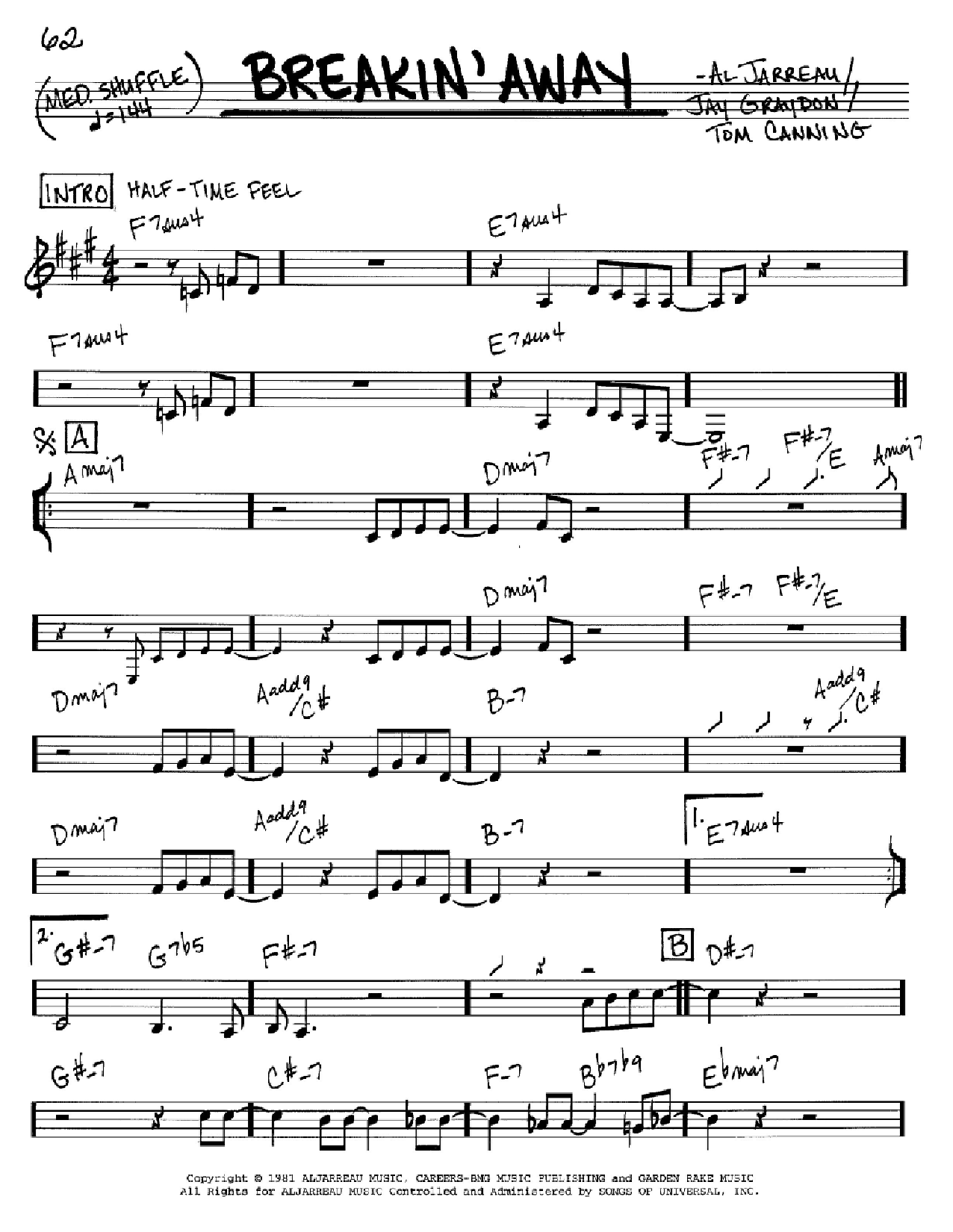 Breakin' Away Sheet Music