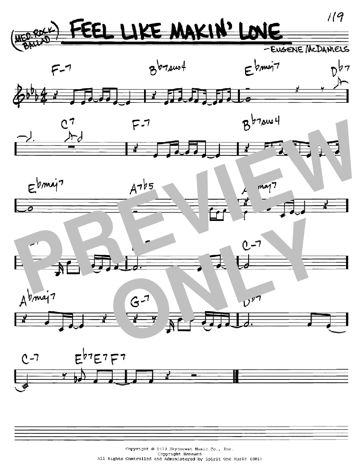 Feel Like Makin' Love (Real Book – Melody & Chords – C Instruments)