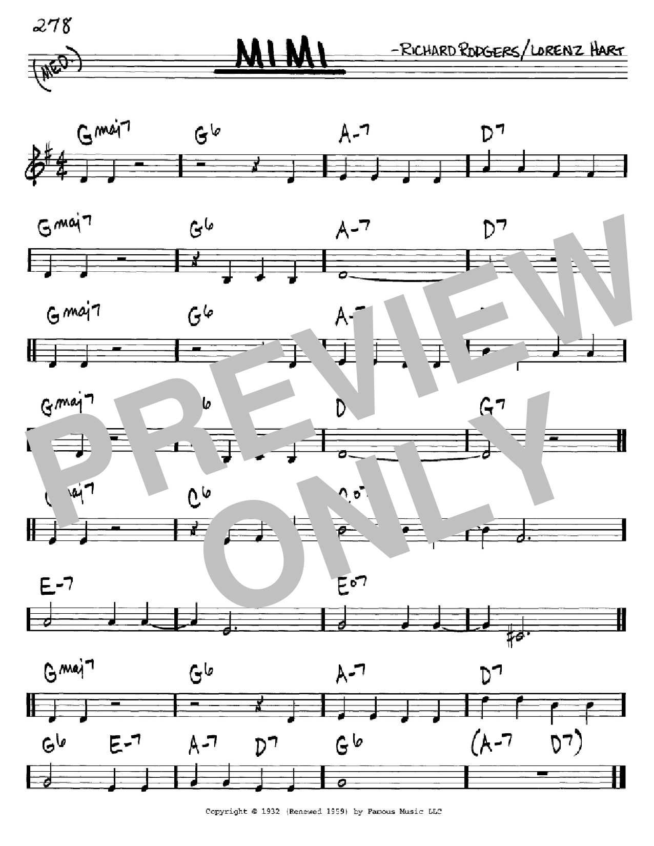 Mimi Sheet Music
