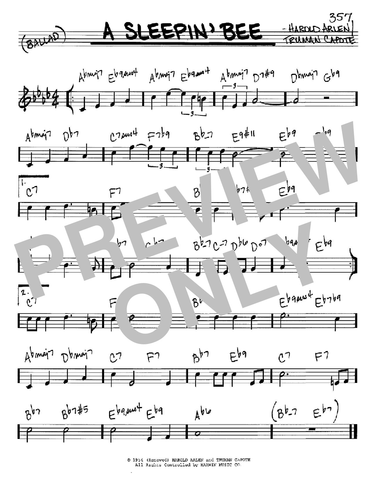 A Sleepin' Bee Sheet Music