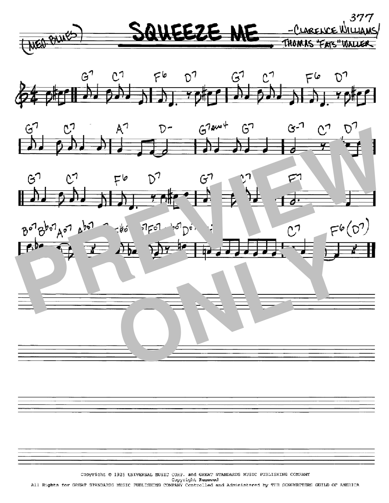 Squeeze Me (Real Book – Melody & Chords – C Instruments)