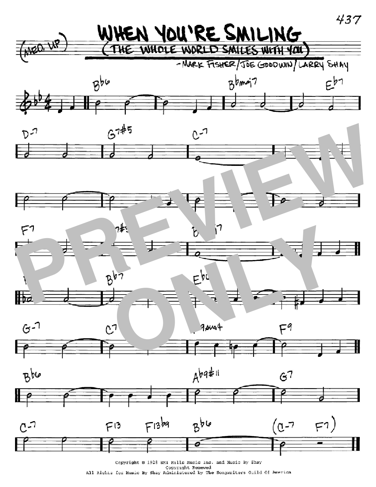 When You're Smiling (The Whole World Smiles With You) Sheet Music