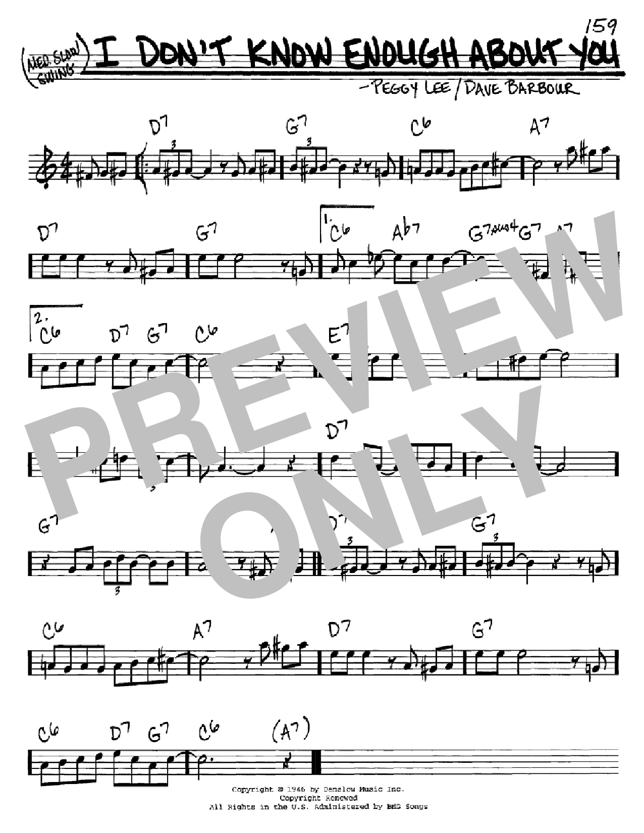 I Don't Know Enough About You Sheet Music