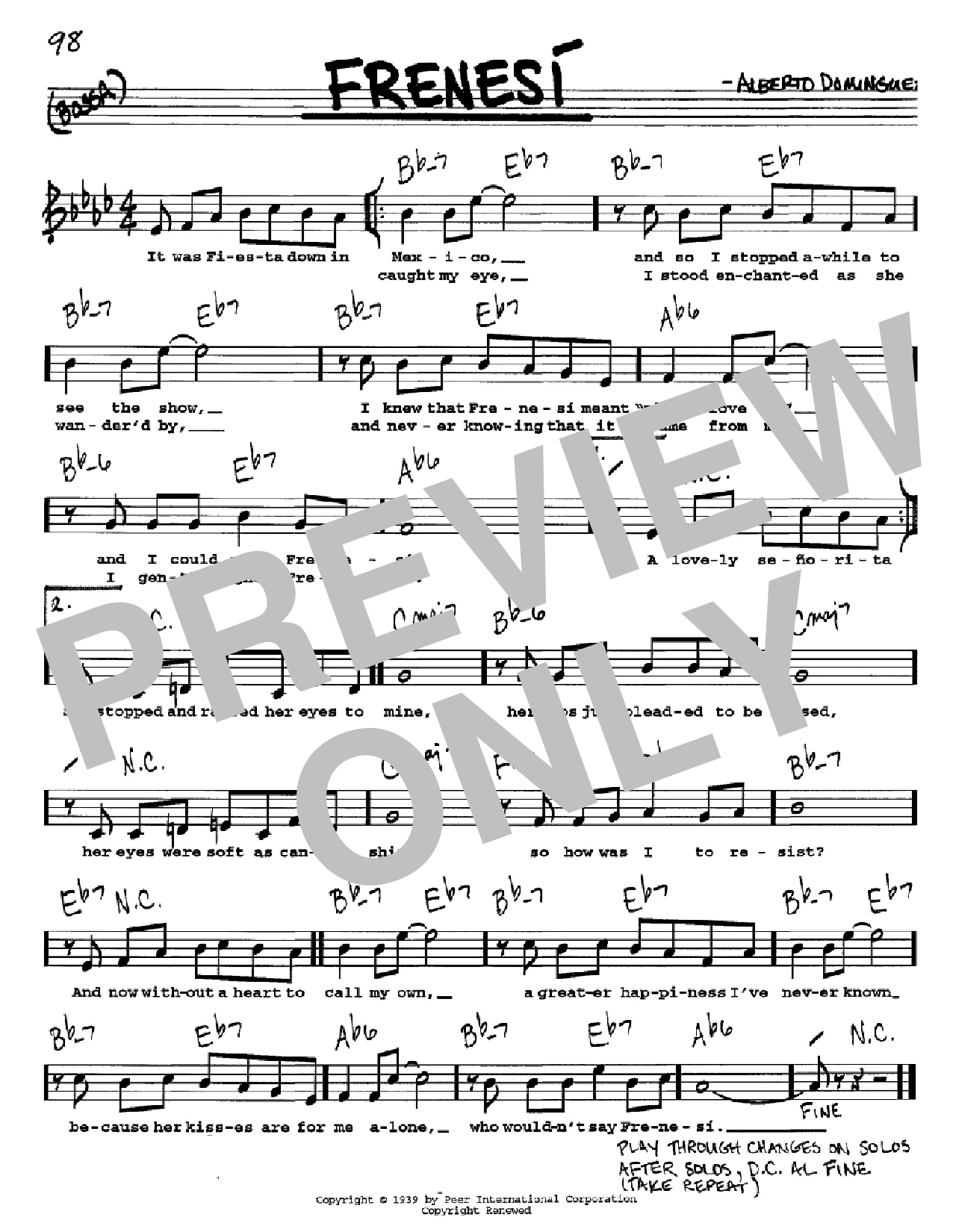 Frenesi Sheet Music