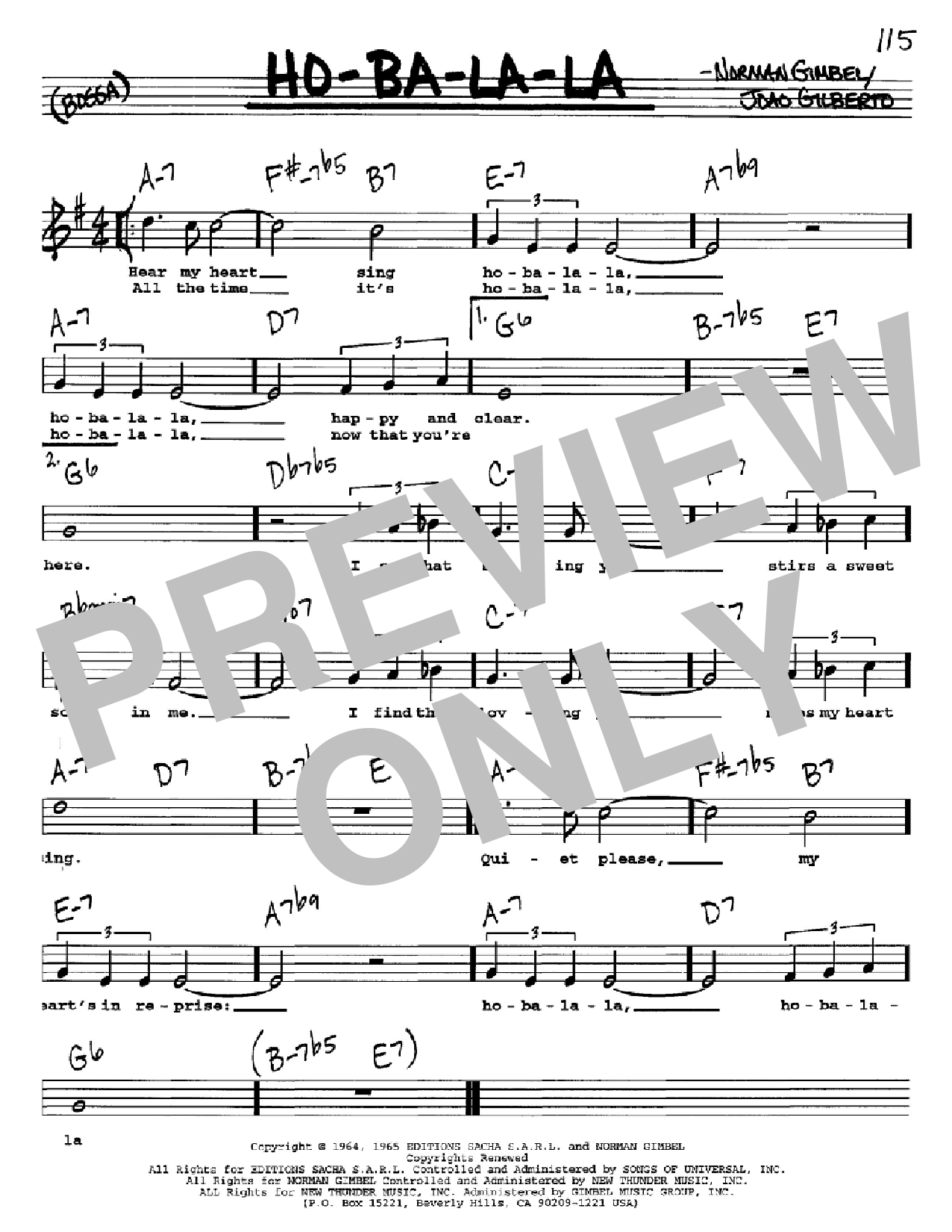 Ho-Ba-La-La Sheet Music
