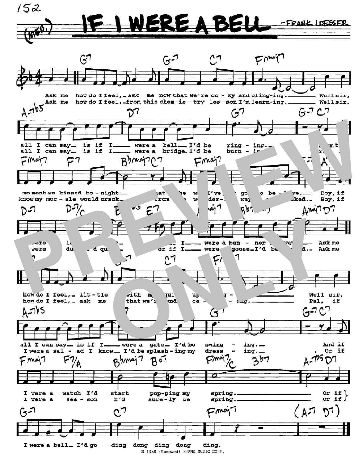 If I Were A Bell (Real Book – Melody, Lyrics & Chords)