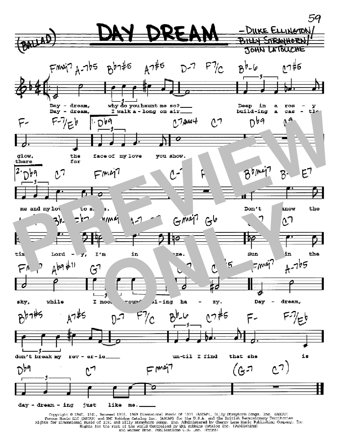 Day Dream Sheet Music