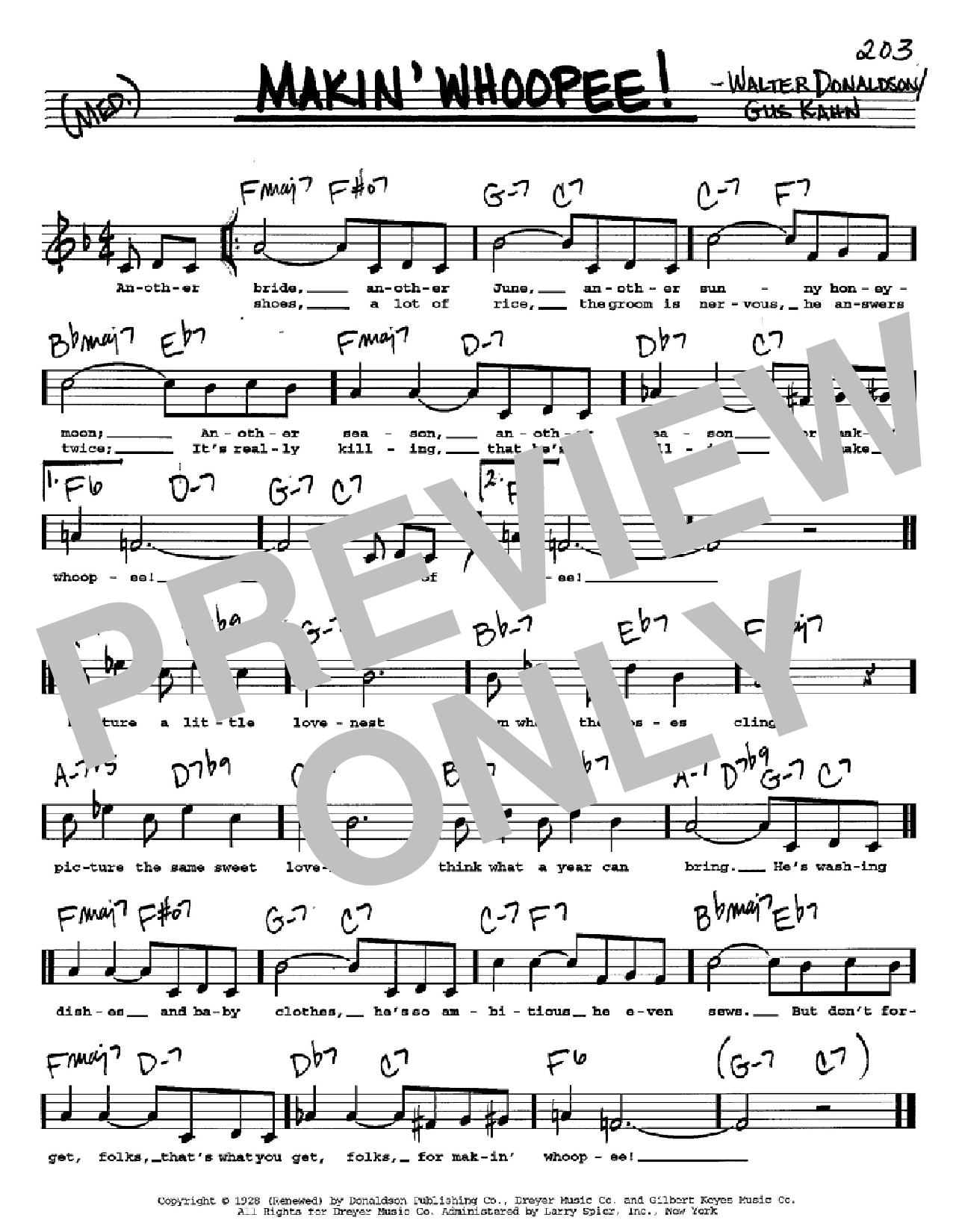 Makin' Whoopee! (Real Book – Melody, Lyrics & Chords – C Instruments)