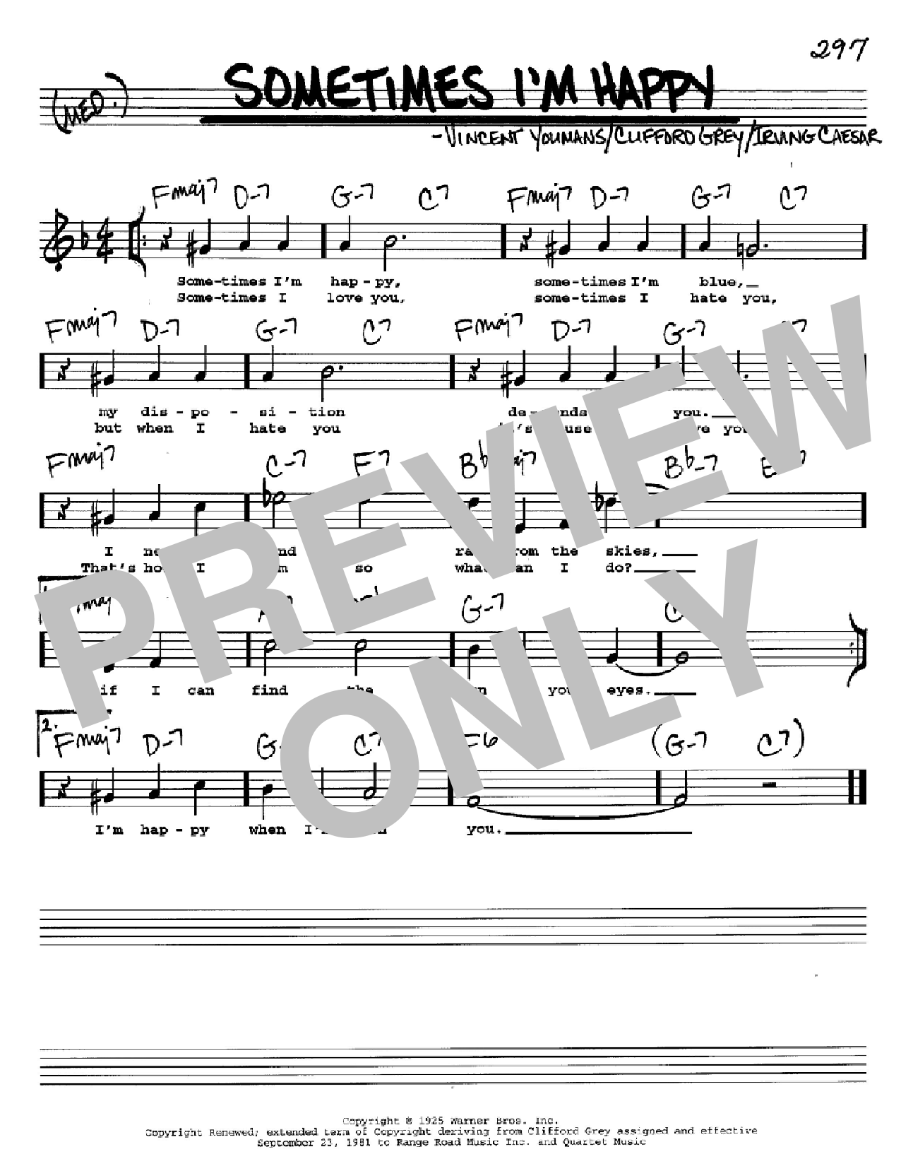 Sometimes I'm Happy Sheet Music