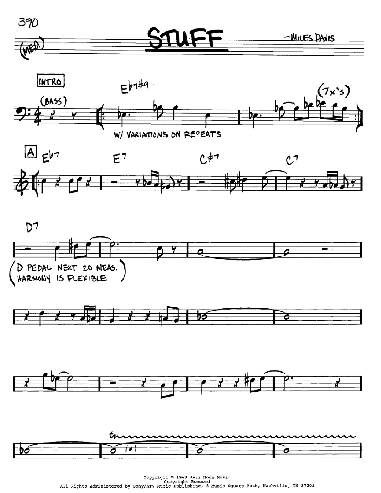 Stuff (Real Book – Melody & Chords)