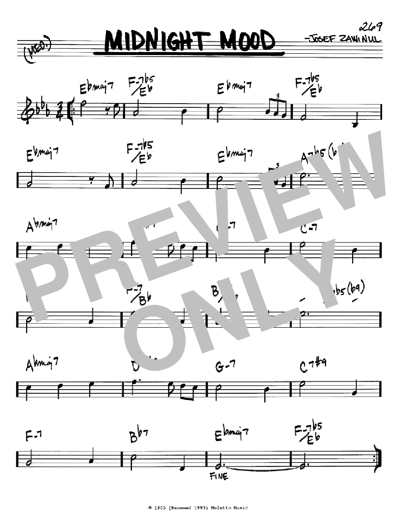 Midnight Mood Sheet Music