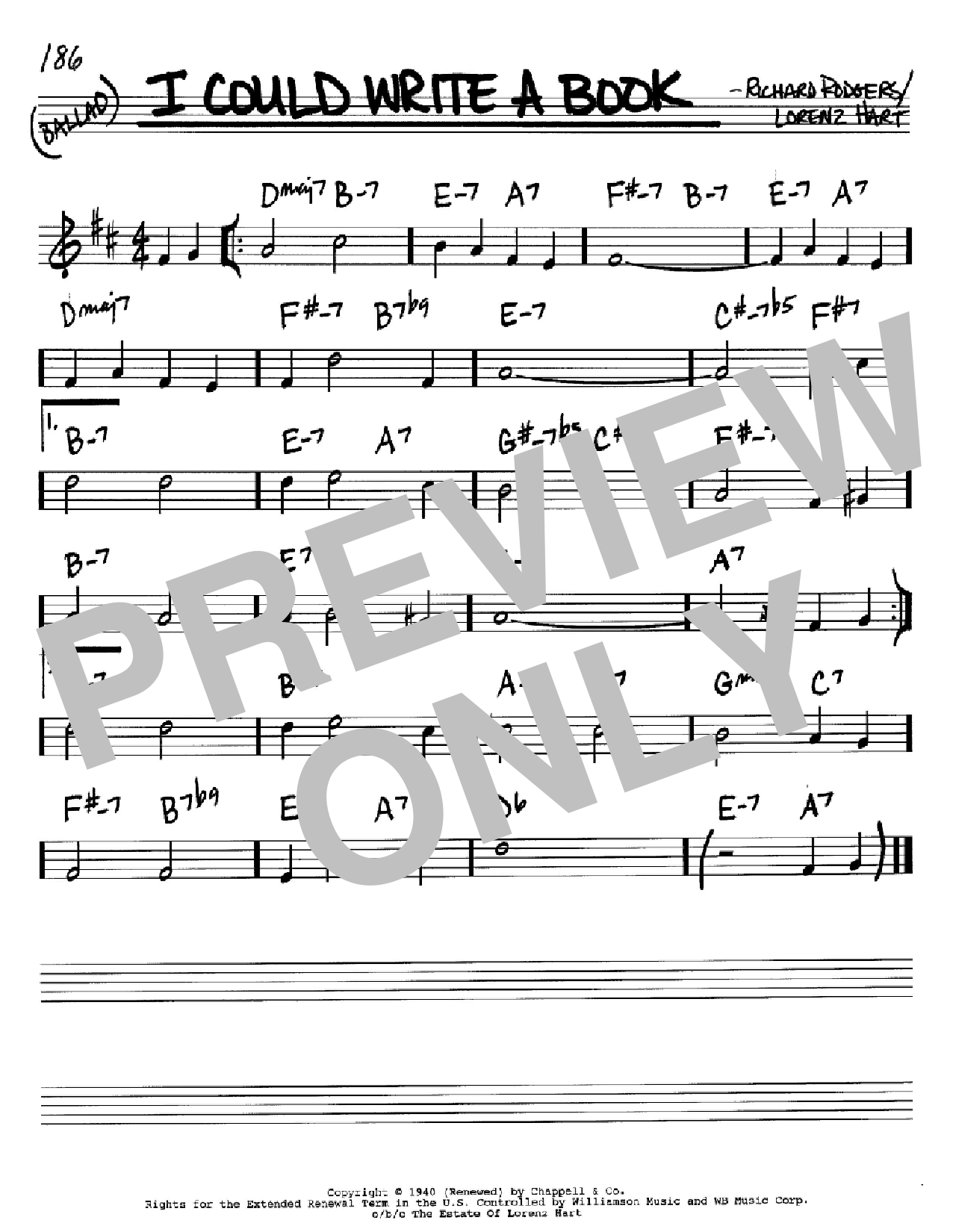 I Could Write A Book Sheet Music