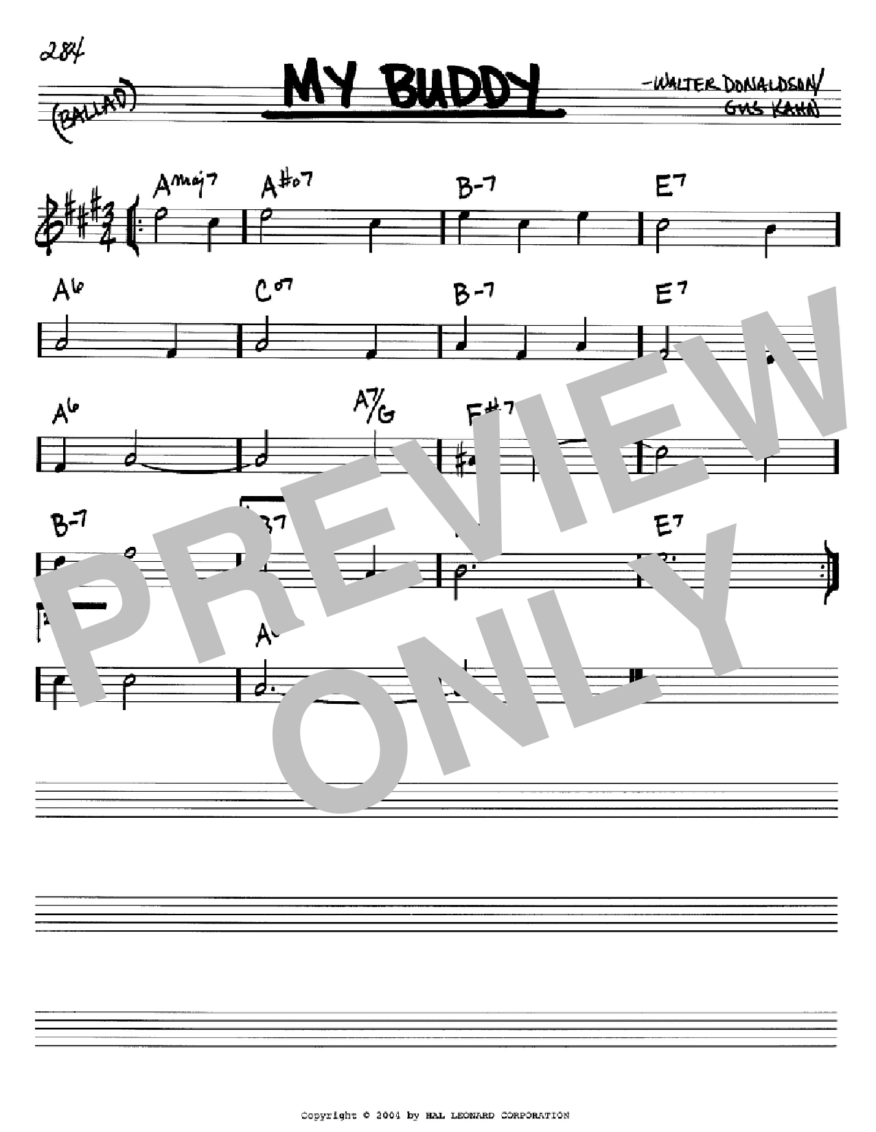 My Buddy Sheet Music