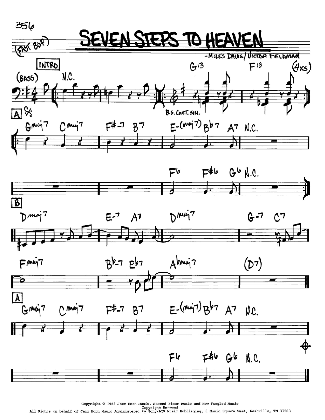 Seven Steps To Heaven (Real Book – Melody & Chords)