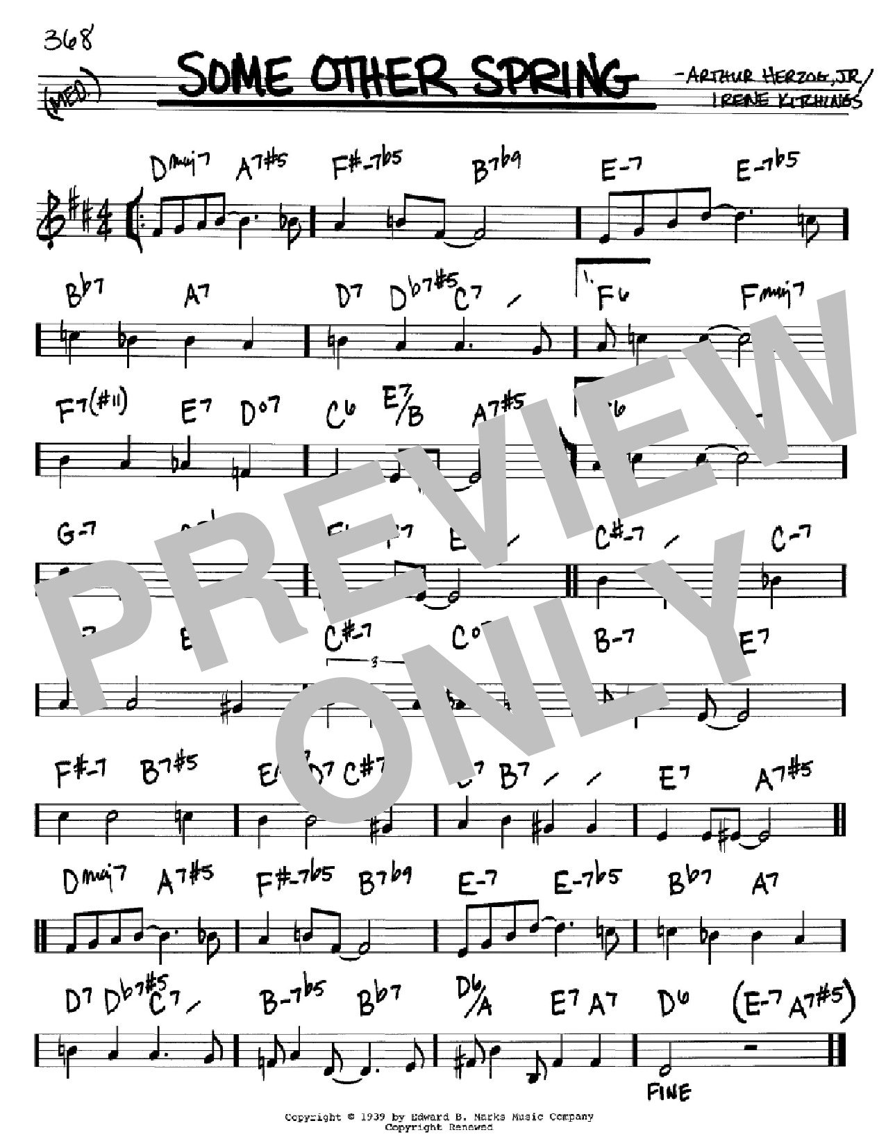 Some Other Spring Sheet Music