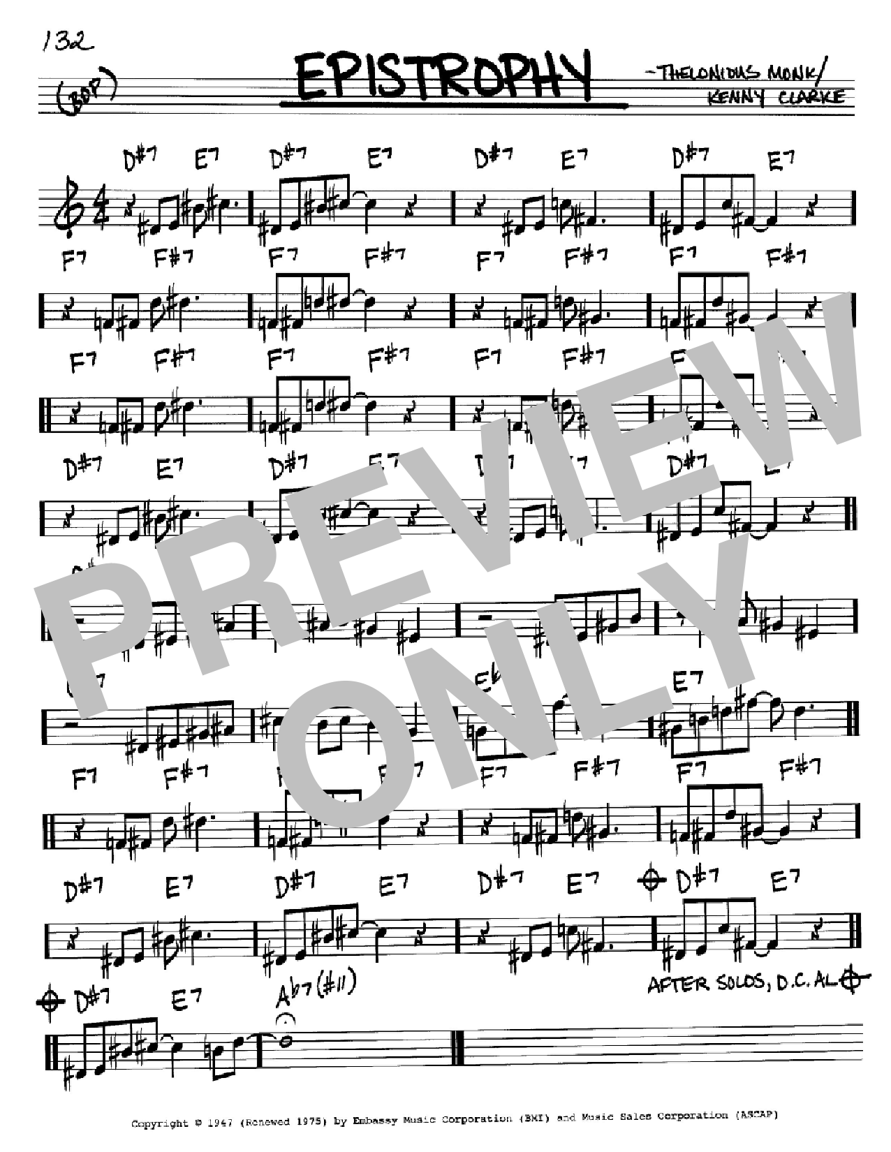Epistrophy Sheet Music