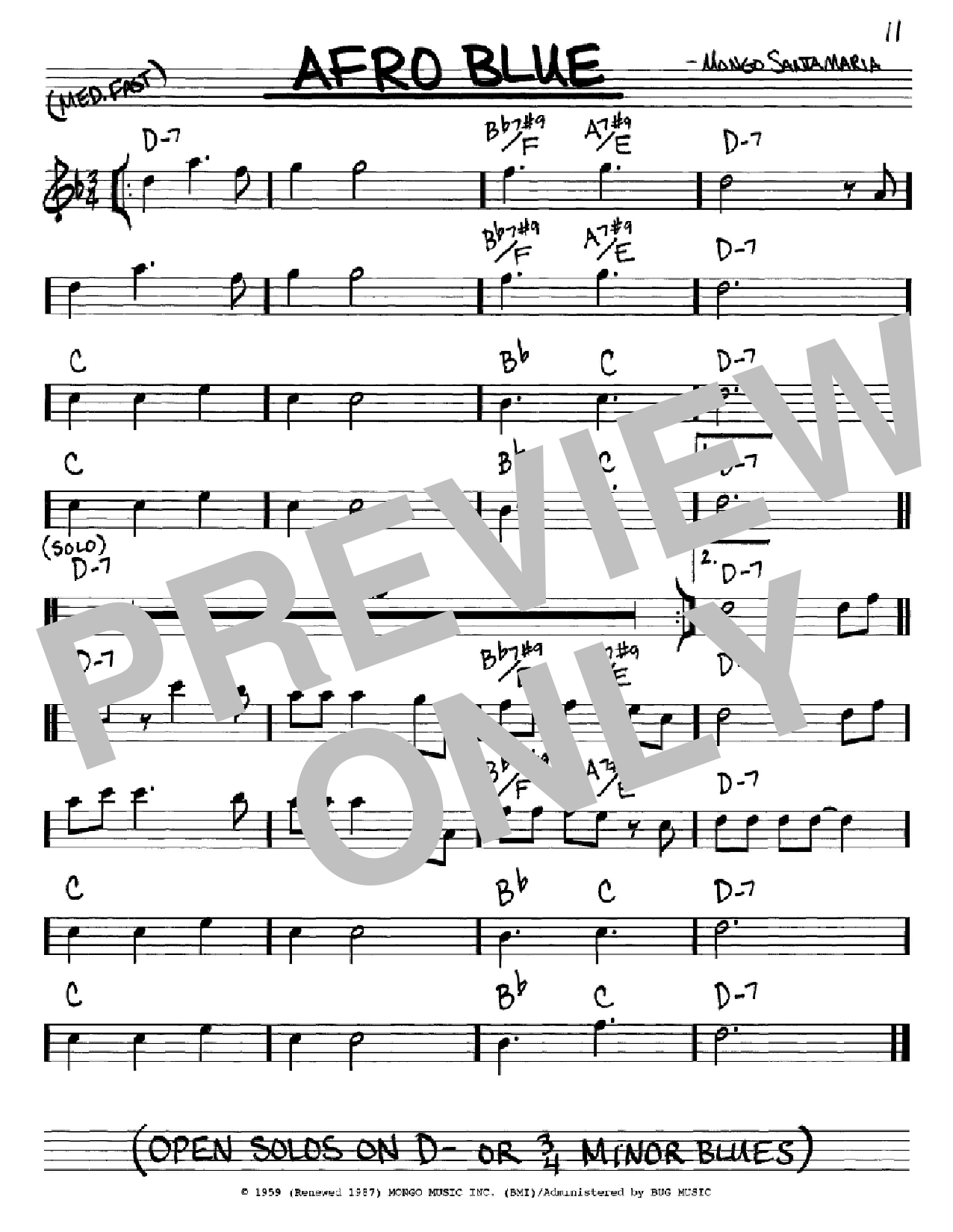 Afro Blue Sheet Music
