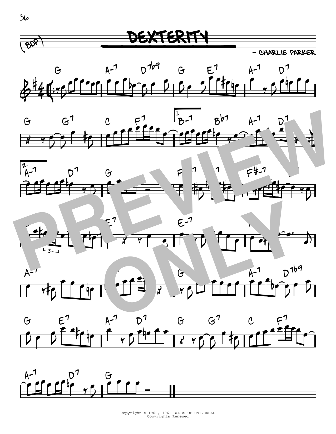 Dexterity Sheet Music