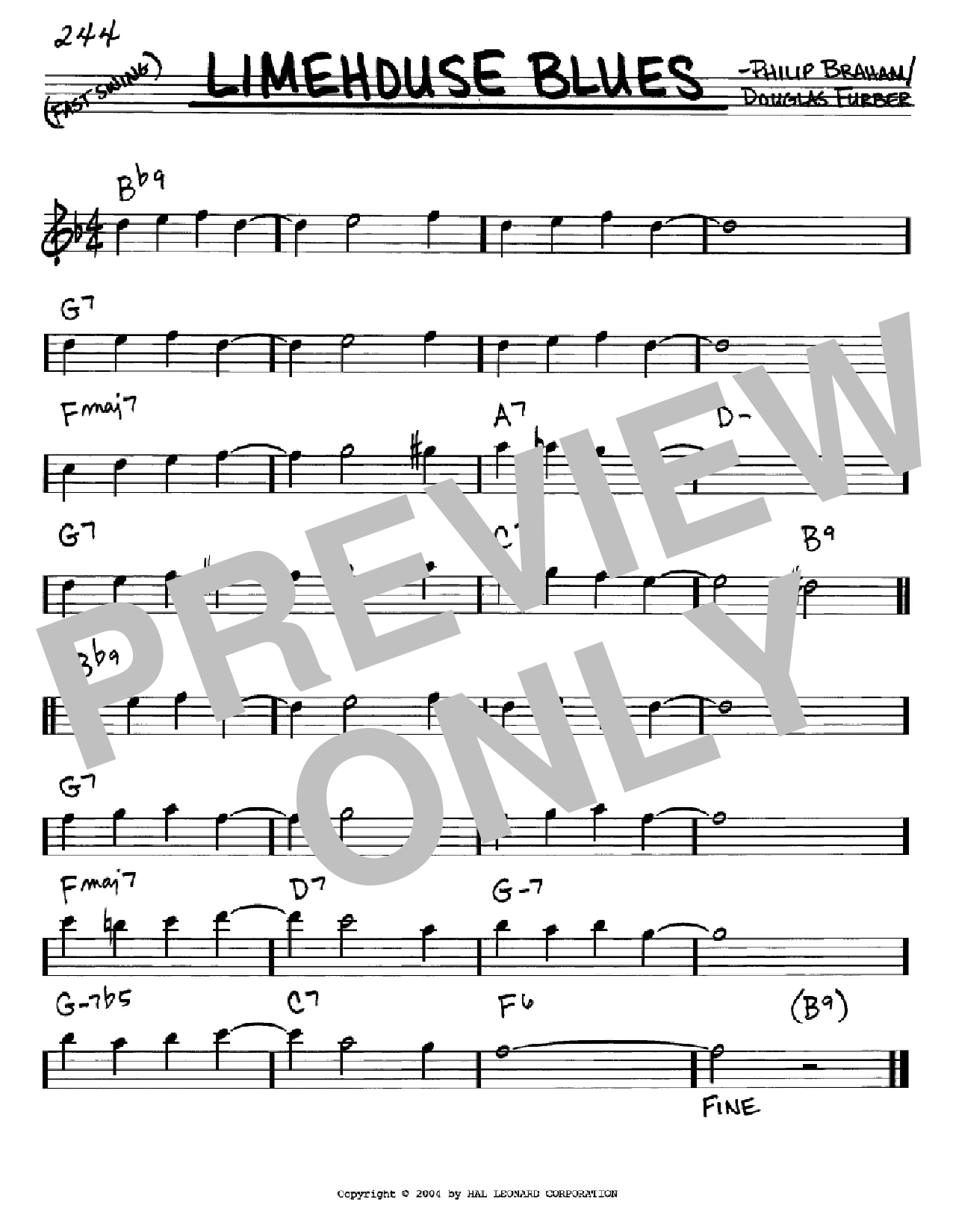 Limehouse Blues Sheet Music