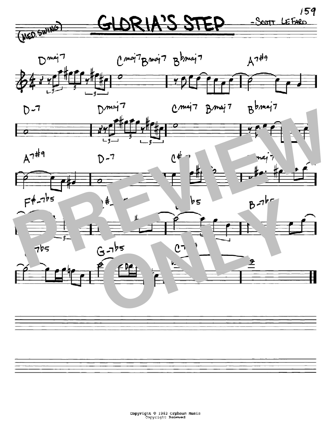 Gloria's Step Sheet Music