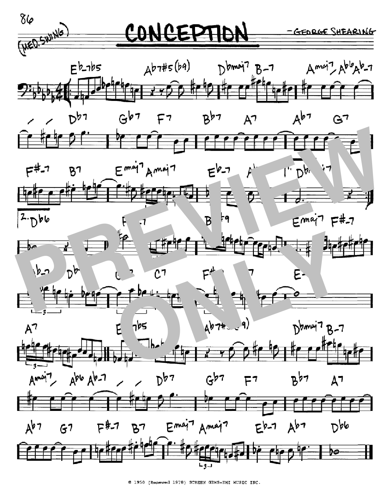 Conception Sheet Music