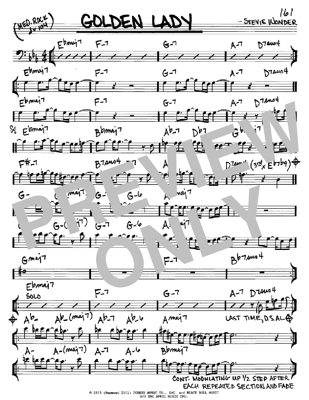 Golden Lady (Real Book – Melody & Chords)