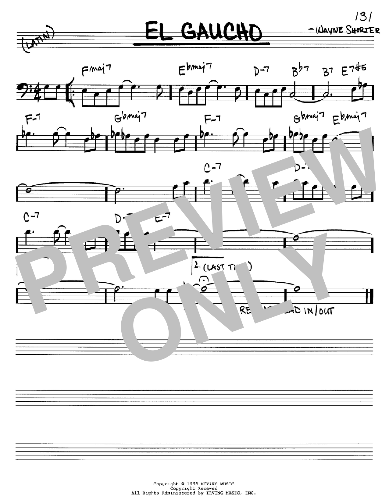 El Gaucho Sheet Music