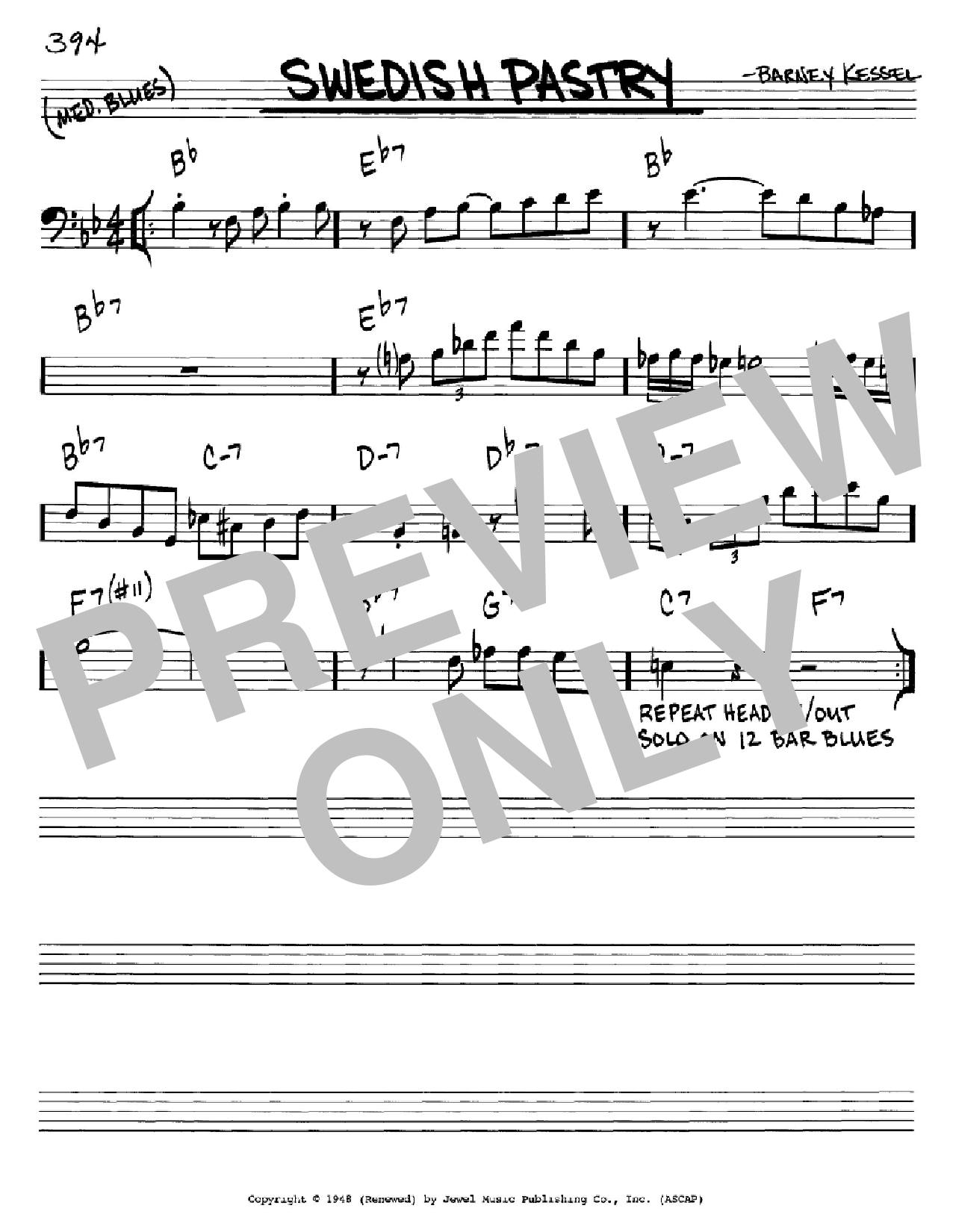 Swedish Pastry Sheet Music