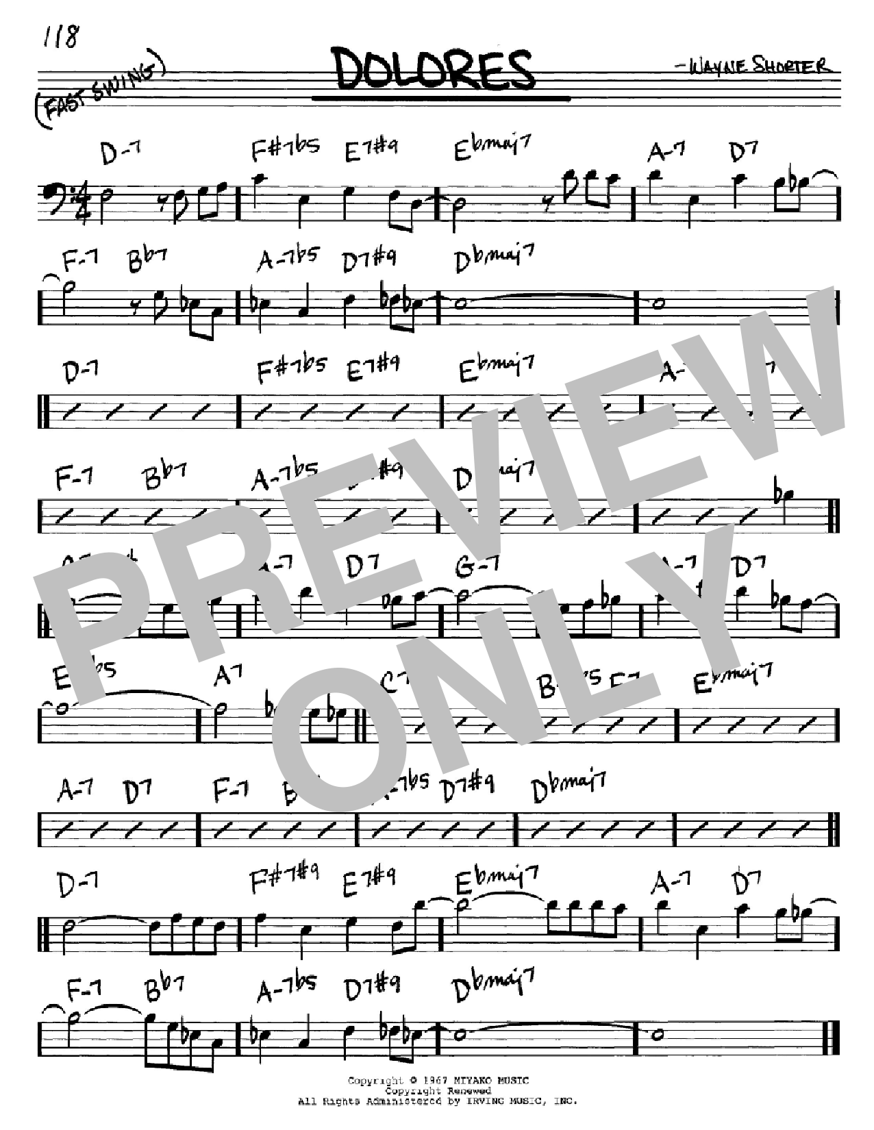 Dolores Sheet Music