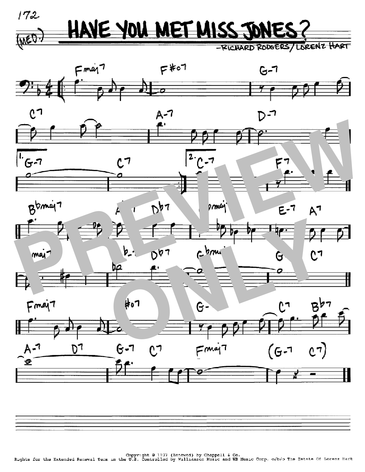 Have You Met Miss Jones? Sheet Music